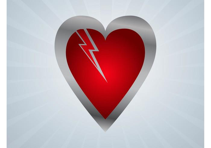 Thunder Heart Vector