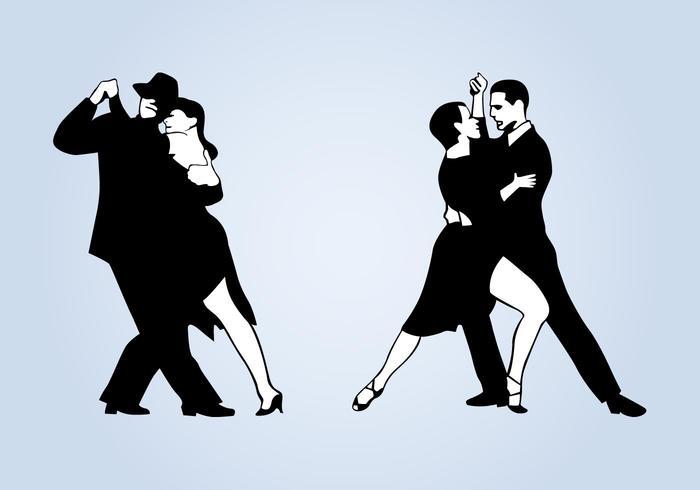 Tango koppels vector