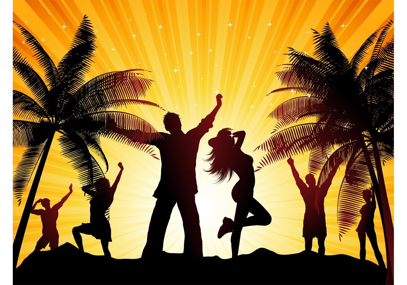 beach party vector download free vector art stock