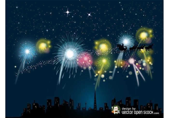 Weihnachten Feuerwerk Vektor