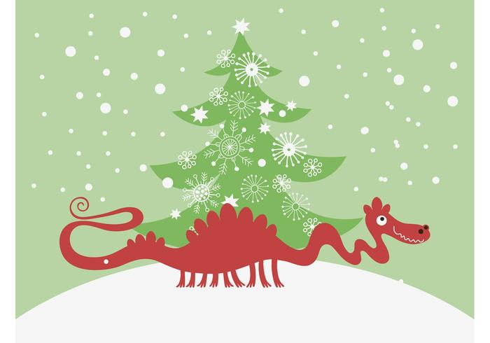 Vector Christmas Dragon