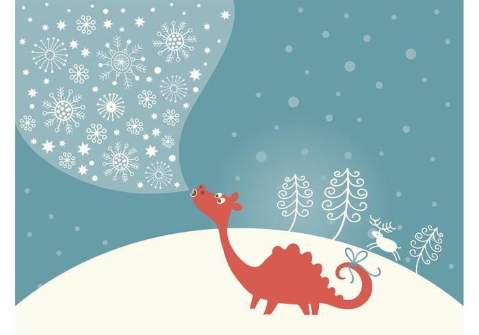 Christmas Dragon Vector