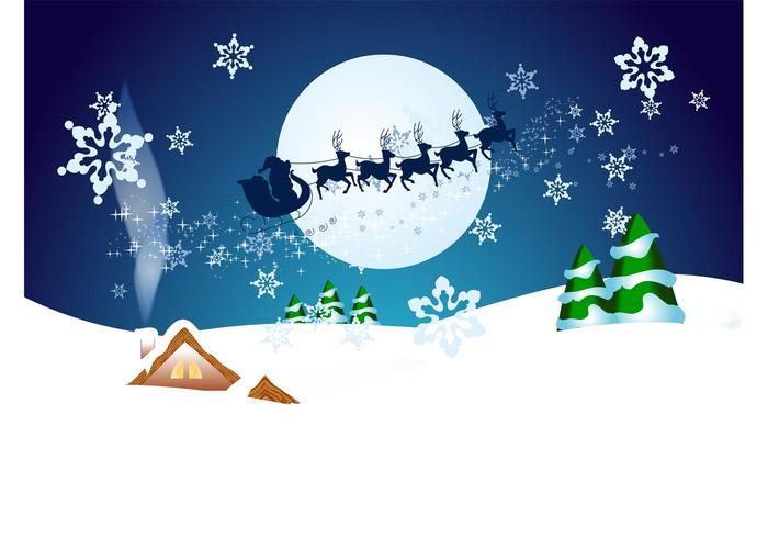 Christmas Night Vector Wallpaper