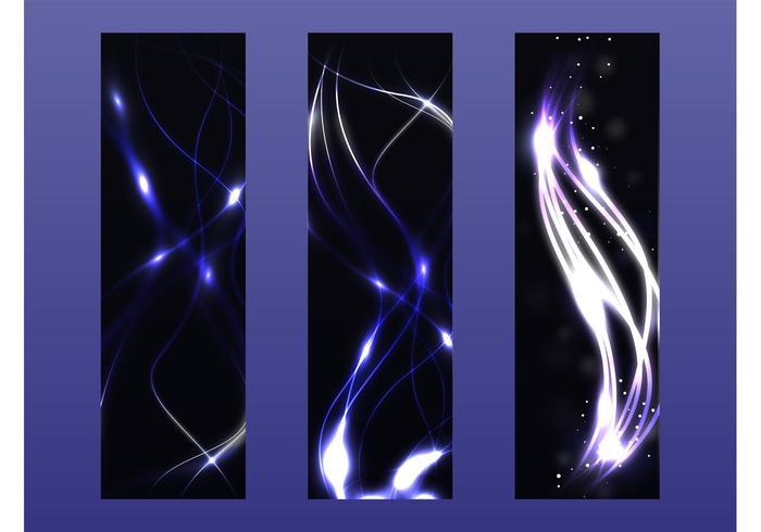 Banners vetoriais de néon