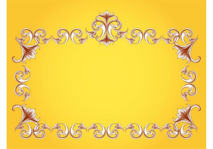 Flourishes Frame Vector