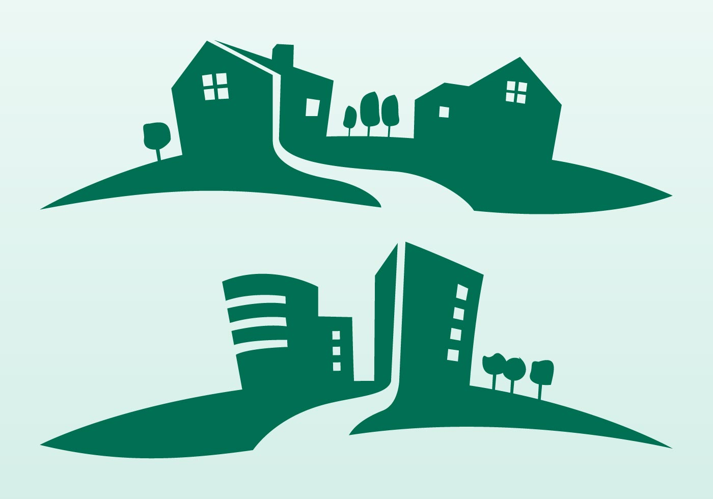 Buildings Silhouettes - Download Free Vector Art, Stock Graphics & Images