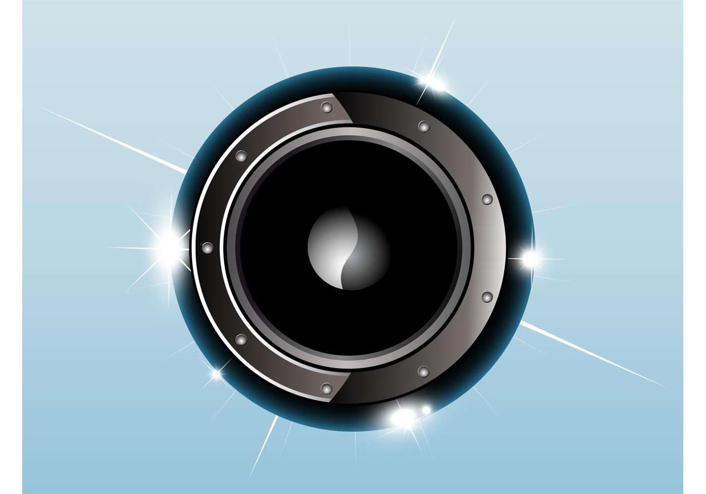 Shiny Speaker Vector Download Free Vector Art Stock
