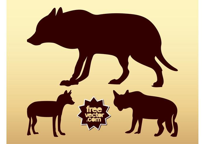 Wolf Silhouettes Vector