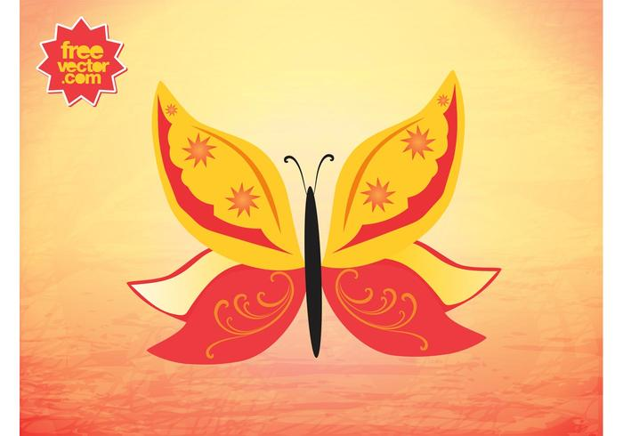 Vector de mariposa de verano
