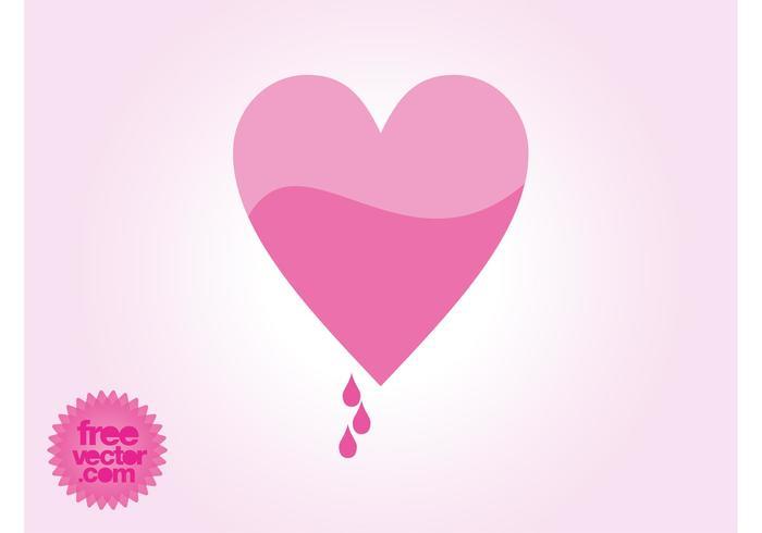 Blödande hjärtat vektor