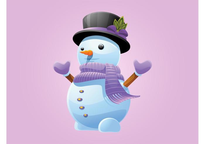 Vetor do boneco de neve
