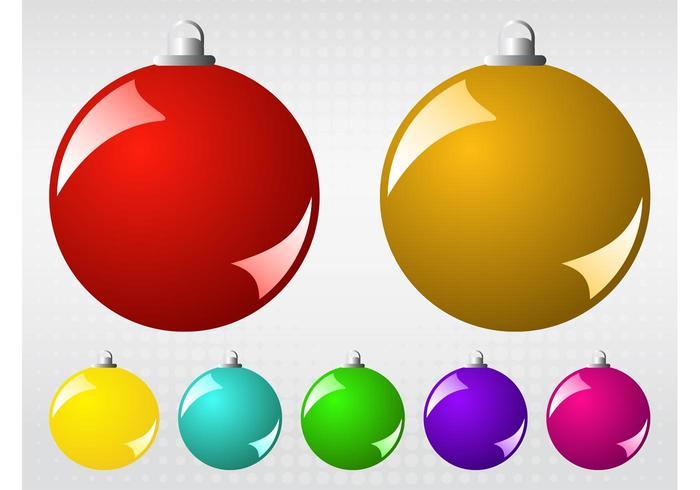 Bolas de Natal do vetor