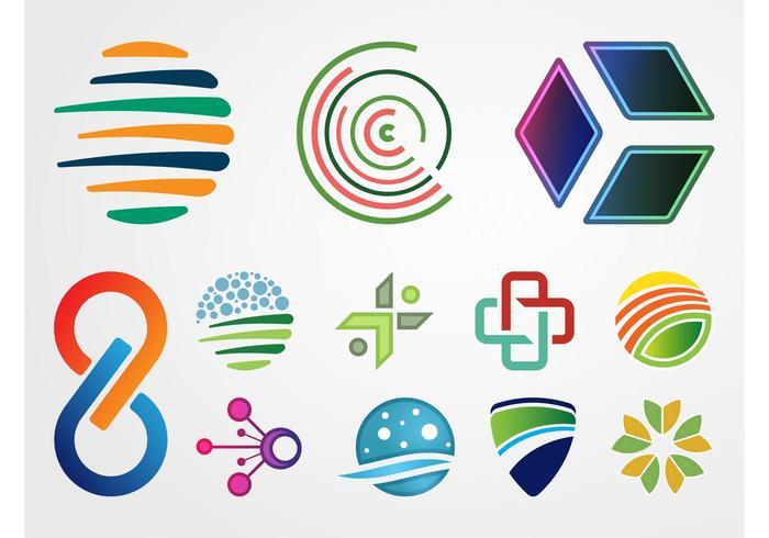 Abstracte Logo's Vector