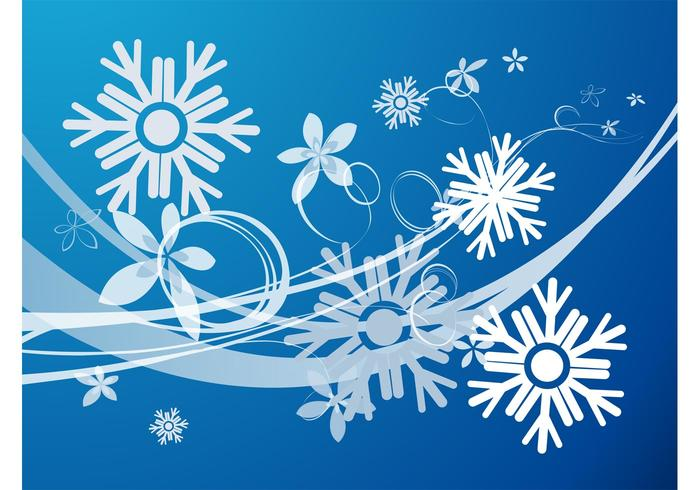 Snow Flowers Vector