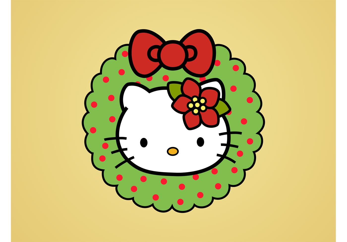Hello Kitty Christmas Download Free Vector Art Stock