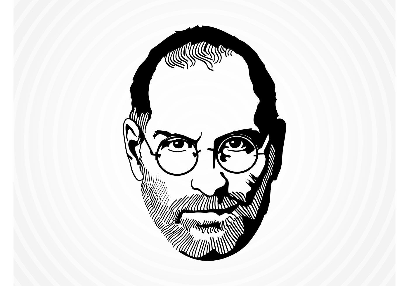 Vector Drawing Lines Job : Steve jobs vector download free art stock