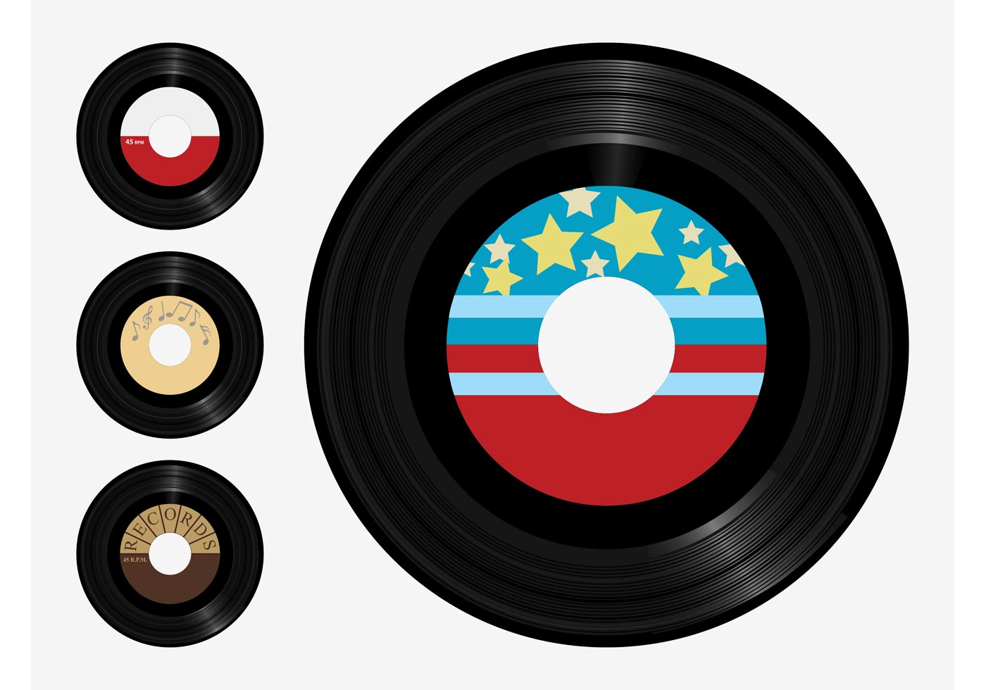 Vinyl Records Vector - Download Free Vector Art, Stock ...