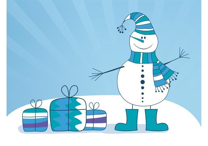 Vector Snowman