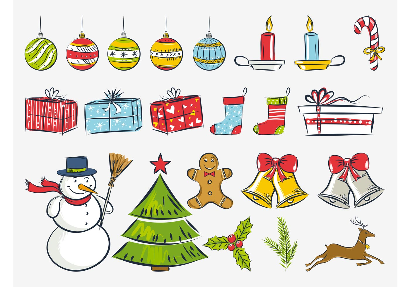 Christmas Drawings Vector Download Free Vector Art