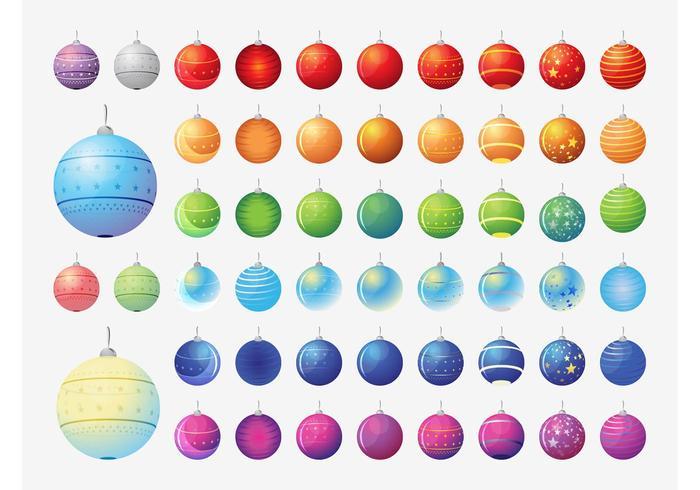 Colección de bolas de Navidad de vector
