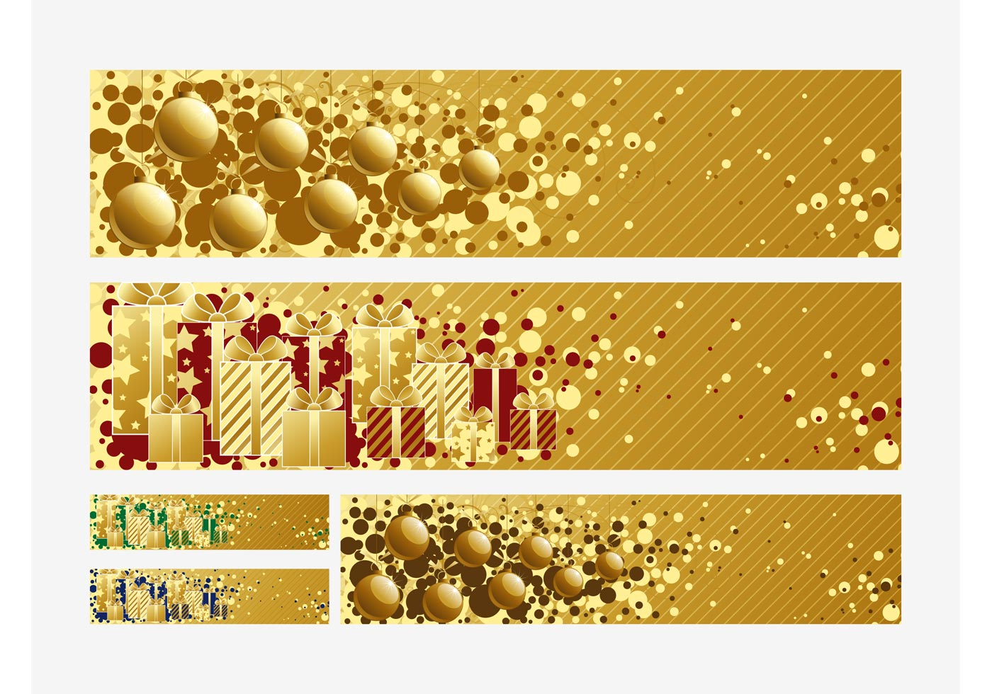 Christmas Banners Vectors Download Free Vector Art