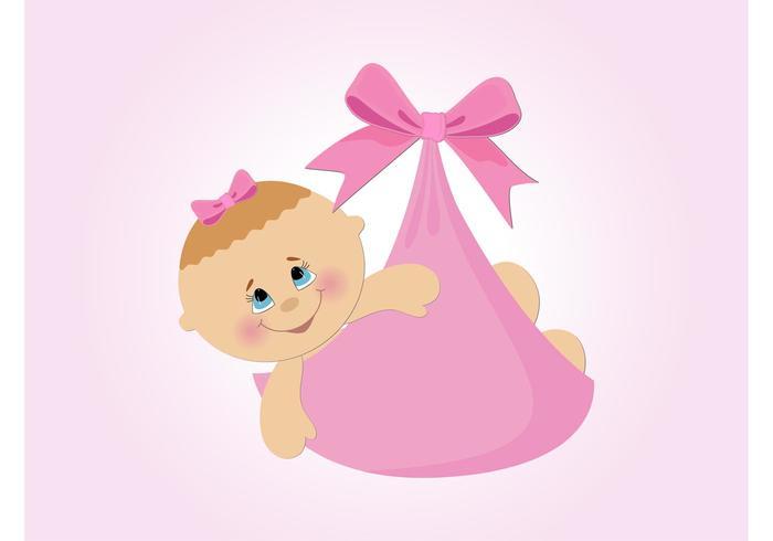 Baby Girl Vector Cartoon
