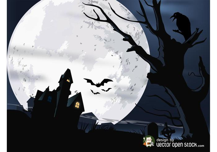 Halloween hus vektor