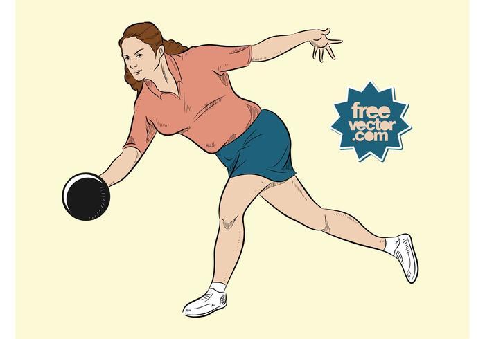Bowlingkvinna