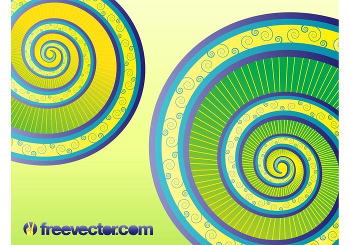 Vecteur des spirales