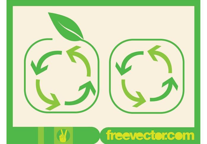 Símbolo de flechas de reciclaje
