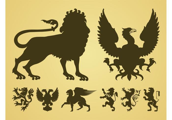 Heraldic Animals Vector