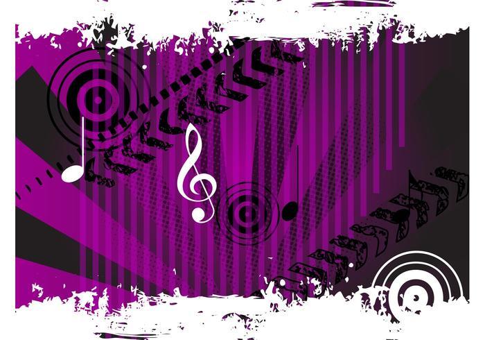Grunge muziek vector