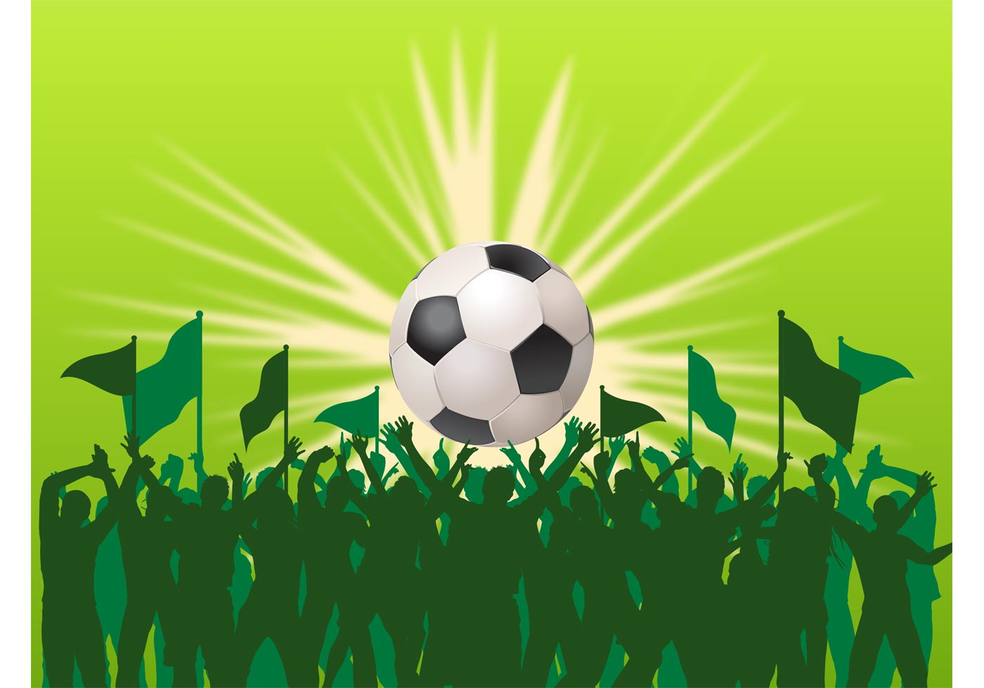 vector football fans