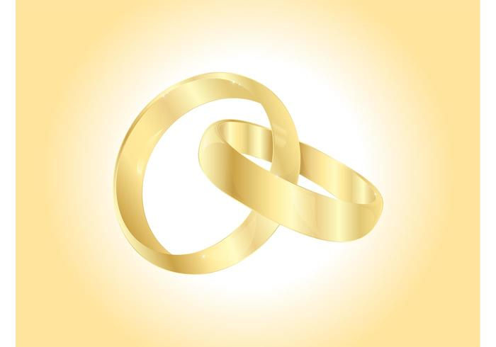 Vector Wedding Rings