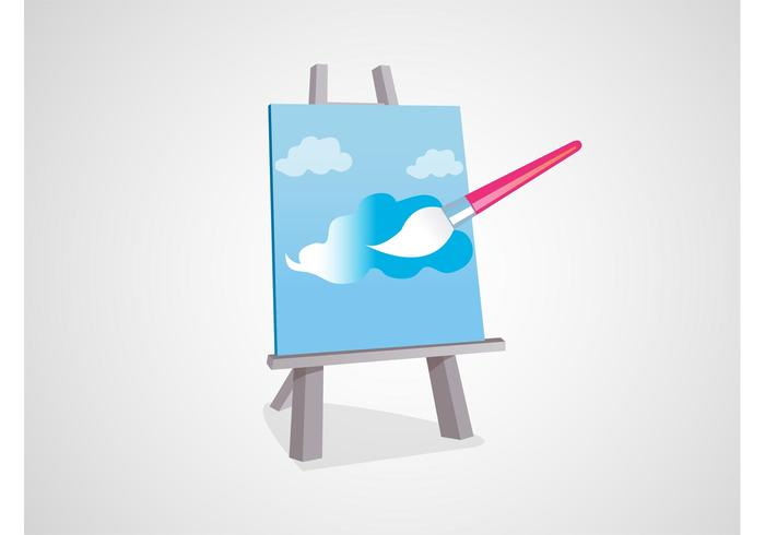 Painting Canvas Vector