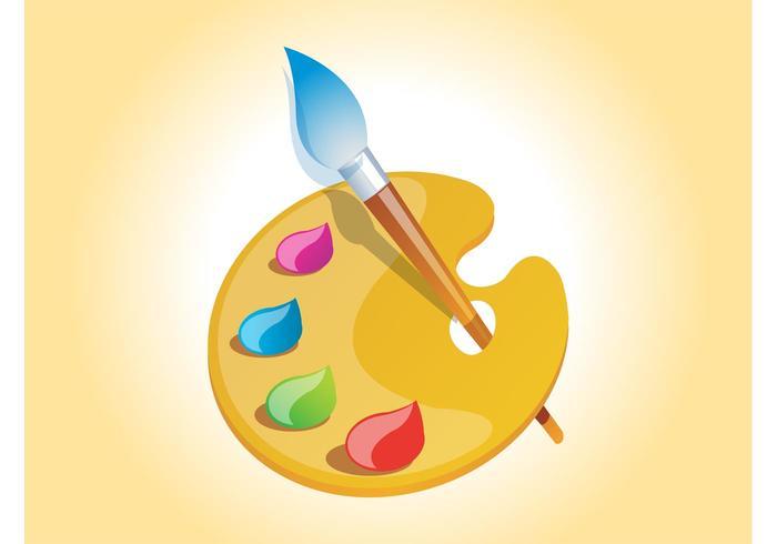 Painter Palette Vector