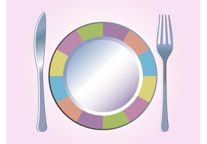 Colorful Plate Vector