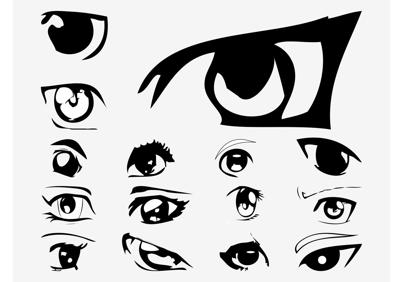 vector anime eyes download free vector art stock