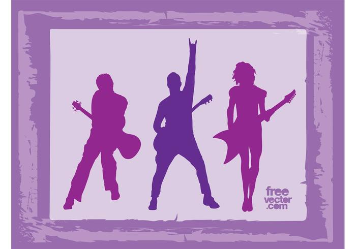 Rock Band Silhouettes