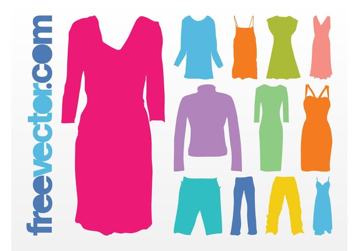 Colorful Clothes Vector