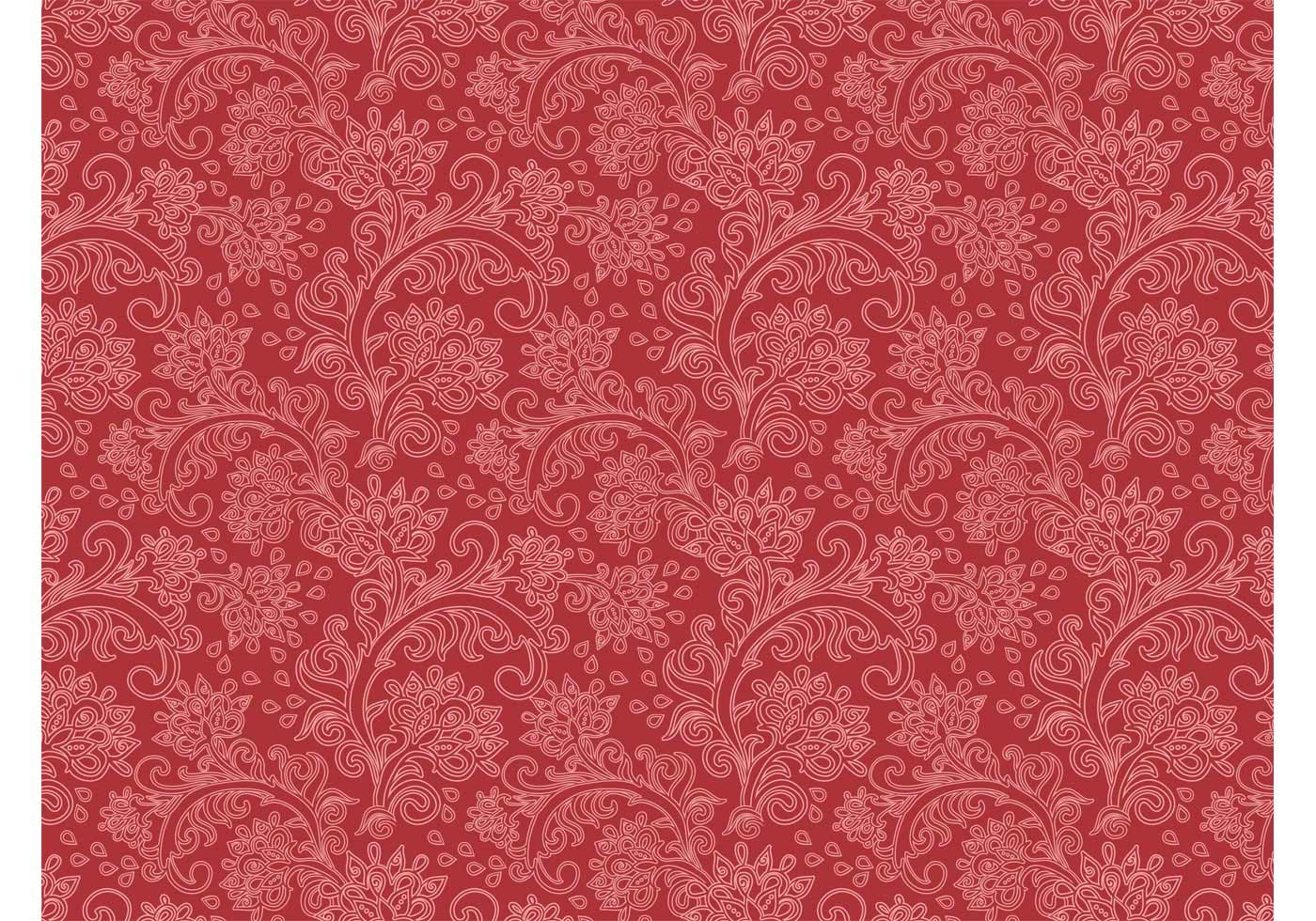 Vintage Floral Pattern Vector - Download Free Vector Art ...