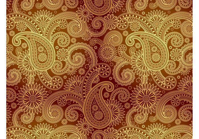 Goldenes Damast-Muster