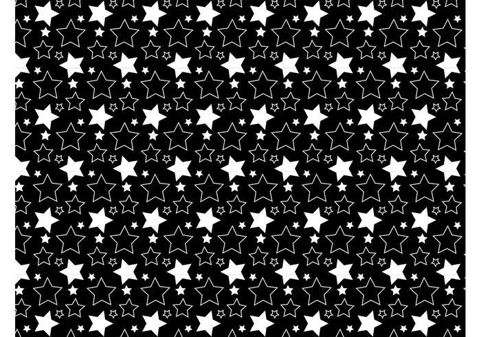 Vektor Stjärnor Mönster