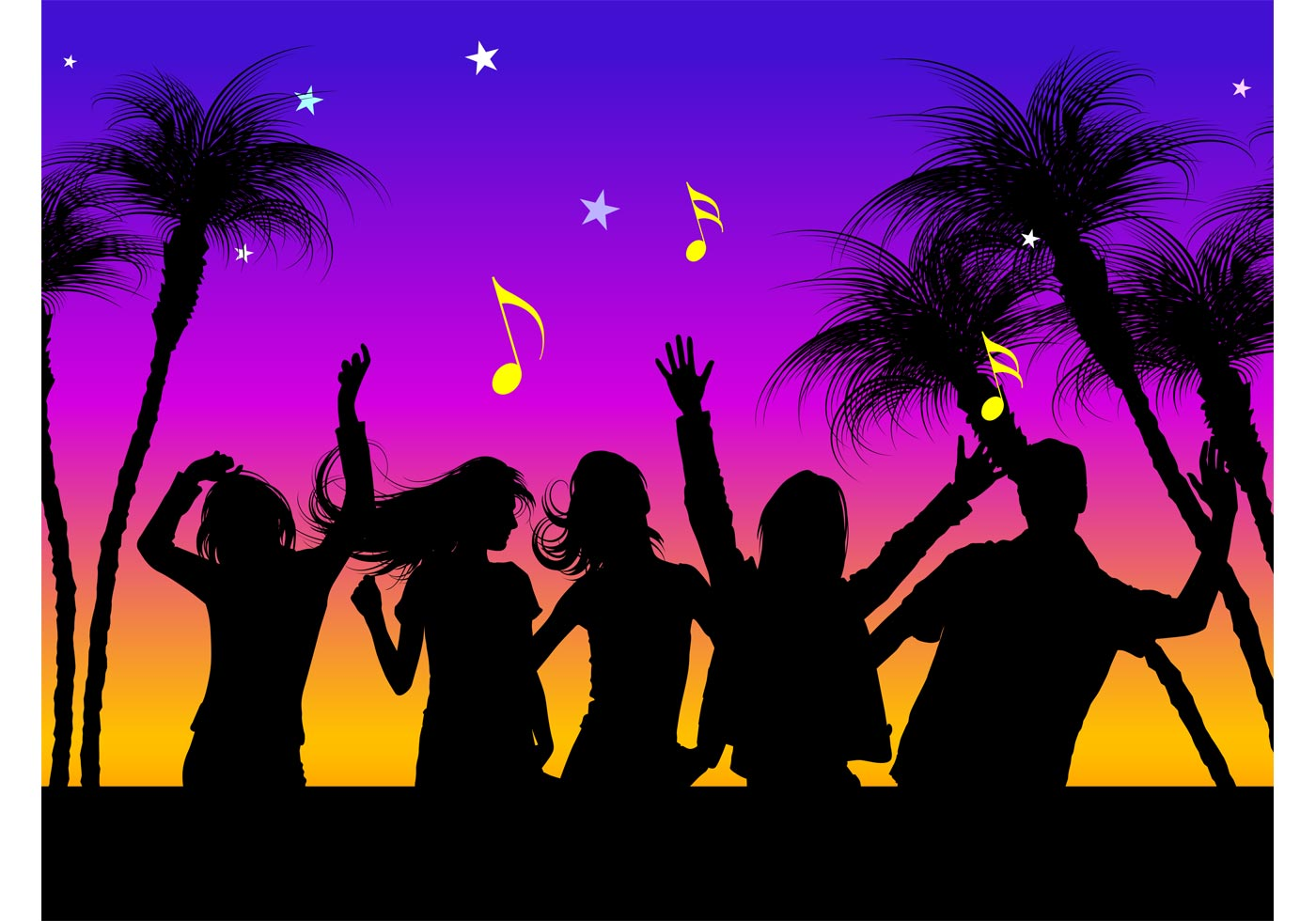 vector beach party download free vector art  stock clipart of dancers black and white clip art of dancer with bouquet