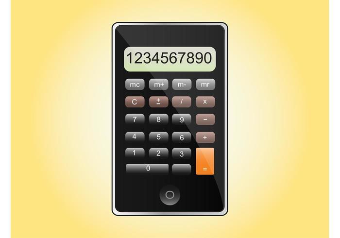 iPhone Calculator Vector