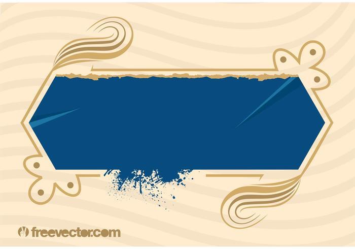 Blaue Grunge-Banner