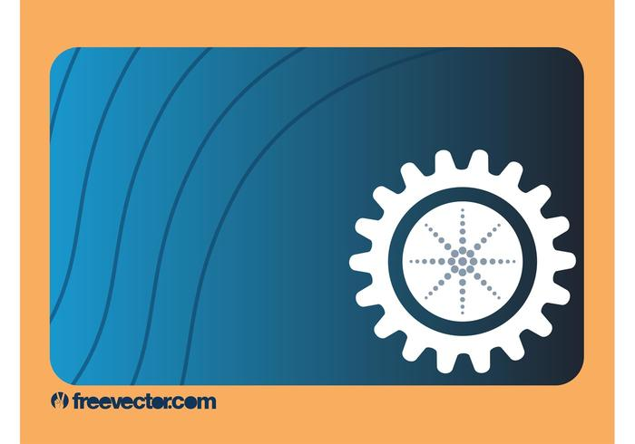 Business Card With Gear