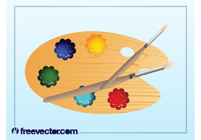 Vektor målare palett