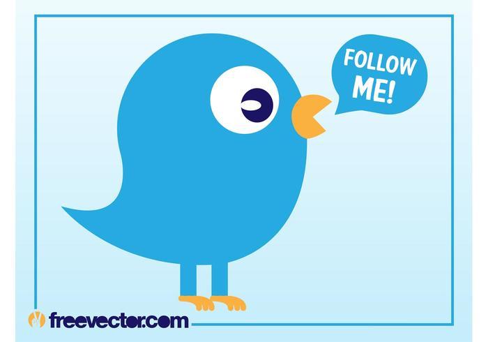 Twitter Vogel Vektor