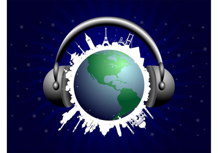 Muziek Wereld Vector